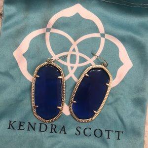 Royal blue pendant earrings